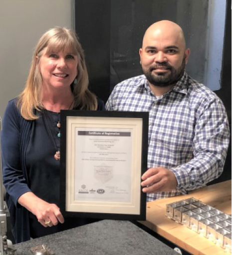 Noron Precision Machining, Inc. is proud to announce that we have earned our ISO 9001:2015 Certification on May 9th 2021